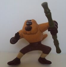 Kung Fu Panda Master Monkey push button twirling stick brown McDonald's 2008