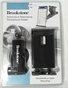 New Brookstone Automotive Telescoping full Rotation Expandable Smartphone Holder