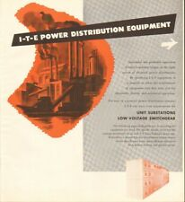 1952 LARGE 4 Pg Print Ad ITE Power Distribution Equipment Substations Switchgear