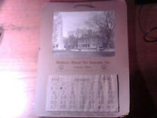 1907 WALL CALENDAR THE MIDDLESEX MUTUAL FIRE INSURANCE COMPANY CONCORD MA