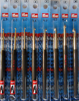 Prym Black Handle Easy Grip Crochet Hooks 0.75mm - 12.00mm Sets & individual