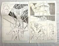 Set of 2 Original Production Comic Book Art Fantastic 4 JOE KUBERT art 1998