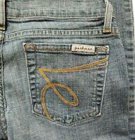 JUST USA Juniors Skinny Blue Jeans Size 5 Medium Wash Straight Leg Sandblasted