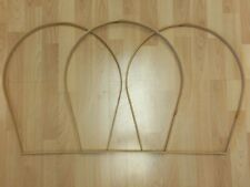 "Lot of Three 12"" X 19"" x 1 1/8"" Oak 'D' Handles for Basket Making Supplies"