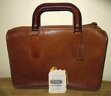 Vintage 70's Coach Slim Satchel Bonnie Cashin Tablet Briefcase Bag Orig Papers