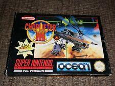 CHOPLIFTER III 3 Super Nintendo SNES Original Deutsch PAL Videogame Spiel CIB