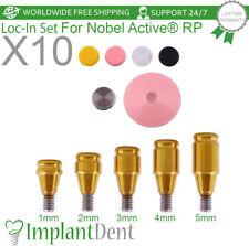 10 Loc In Titanium Abutment Kit For Nobel Biocare Active Hex Rp Dental Implant