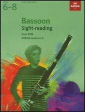 Bassoon Sight Reading Tests from 2018 ABRSM Grades 6-8 Sheet Music Book