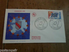 FRANCE 1975, FDC SERVICE,CONSEIL EUROPE VF, DRAPEAU, TP 48, STAMP OF SERVICE