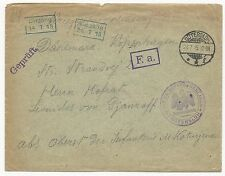 Germany Prisoners of War WWI Cover July 24, 1915 Gutersloh