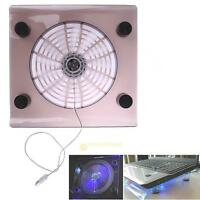 "New USB Big Cooling Fan With LED Light Cooler Pad For 15"" Laptop PC Notebook"