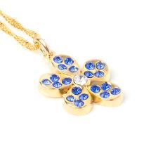Superb Masonic Freemason Ladies Forget Me Not Pendent Necklace Swarovski Gift