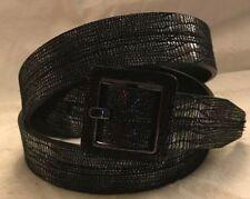Calvin Klein Gunmetal Leather Belt NWT