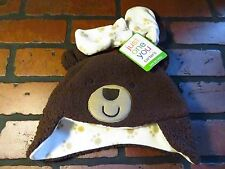 Carter's Just One You Brown Paw BEAR Hat & Mitten Set NEW NWT Size M 6-9 Months
