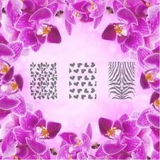 Set: patrón-S, aerógrafo Nail Art Stencil Autoadhesivo diferentes motivos 60 P