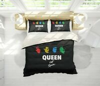 3D Queen Rock Band Quilt Cover Sets Pillowcases Duvet Comforter Cover B08