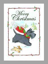 Scottish Terrier Christmas Cards, Box of 16 Cards & 16 Envelopes