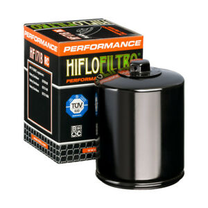 HiFlo Racing Oil Filter Glossy Black HF171BRC Harley Davidson