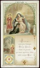 antico santino cromo-holy card S.LUISA DE MARILLAC