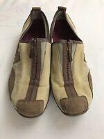 Women's Merrell Barrado Sport Taupe Leather Suede Zip 76112 Size 9 US
