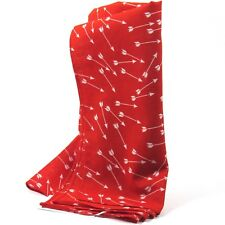 """J.Crew Women's Printed Scarf Flying Arrows Pattern Red/Ivory 20""""x20"""""""