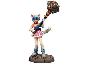 Aurora Model Game Miniatures 'Cat Girl with Mace' Fighter Metal Figure FE-030