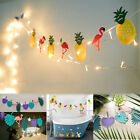 Hawaiian Tropical Flamingo Pineapple Banner Garland Bunting Summer Party Dec