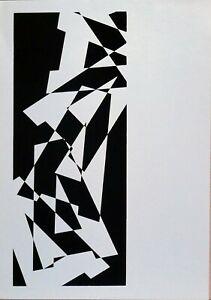 Renato Spagnoli serigrafia 1973 A come Alfabeto rif 4  50x34 firmata numerata