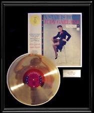 JUDY GARLAND A STAR IS BORN  ALBUM FRAMED LP DISC GOLD PLATED VINYL RECORD RARE!