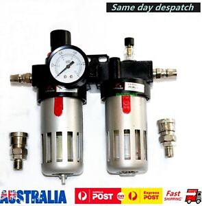 Air Compressor Oil Lubricato Moisture  Water Trap Filter Regulator with Fitting