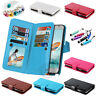 FZ03 Luxury Book Wallet Photo Frame Holder Leather Flip Cover 9 Card Slots Case
