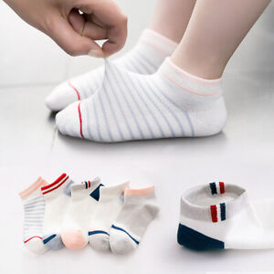 5 Pairs Toddler Boys Ankle Socks Cotton For Spring Summer