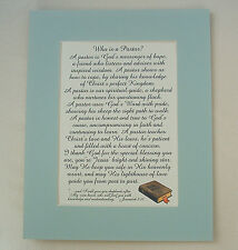 PASTOR MINISTER Shepherd CHRISTIAN Leader Priest GOD BIBLE verses poems plaques