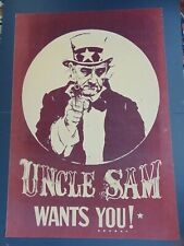 1960's VINTAGE PRESIDENT LYNDON B. JOHNSON VIETNAM ANTI WAR UNCLE SAM POSTER