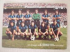 CARTOLINA CALCIO SQUADRA INTER F.C INTERNAZIONALE 1975/1976 SAN SIRO AUTOGRAFATA