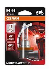 OSRAM H11 NIGHT RACER 110 12V 55W PGJ19-2 Lampadina faro Moto 64211NR1-01B