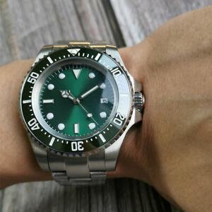 44mm Sterile Green Dial Date Ceramic bezel NH35 Luminous Automatic men's Watch