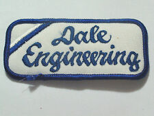 Dale Engineering Name Patch Mechanics Garage Gas Station Vintage A M Automobile