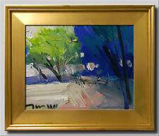 JOSE TRUJILLO FRAMED Original Oil Painting IMPRESSIONISM CONTEMPORARY MODERNIST