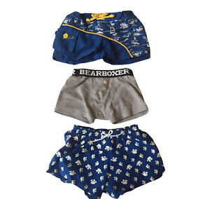Build A Bear Workshop Lot of 3 Boxer Shorts Swim Trunks And Shorts BABW