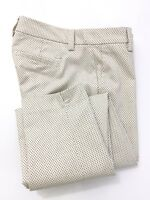 Tommy Hilfiger Madison Women's Cropped Capri Ankle Pants Stretch Slim Fit Cream