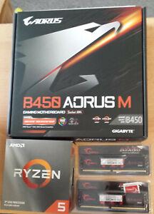 Aufrüstkit AMD Ryzen 5 3500X Boxed, Gigabyte Mainboard u. 16 GB DDR4 G.Skill
