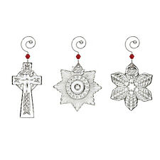 WATERFORD MINI ORNAMENTS SET OF 3 BRAND NEW IN BOX #40026614 CHRISTMAS F/S