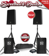 "Pair EV Electro-Voice ZLX-15P 15"" Two-Way Powered PA Loudspeakers Live Sound DJ"
