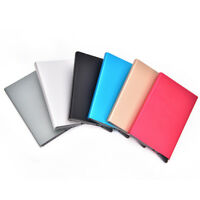Metal ID Credit Card Holder RFID Protector Aluminum Wallet Card Case BR rl