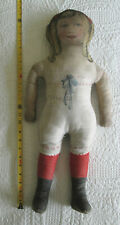 Large antique 24-inch Cloth Doll - Art Fabric Mills? - very sweet! circa 1900