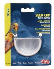 Hagen Living World  Bird Cage SEED CUP w/ Metal Hooks Small/ Medium