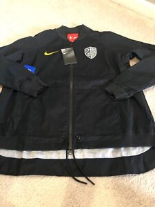 New Nike Women's Cleveland Cavaliers Cavs NBA Jacket Size XS Black The Land