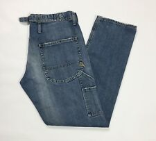 Cycle jeans uomo usato relaxed destroyed cargo denim blu size W30 tg 44 T3042