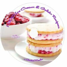 1000 Ice Cream Gelato Frozen Yogurt Recipes CD Book Ice cream Maker  Easy Cook